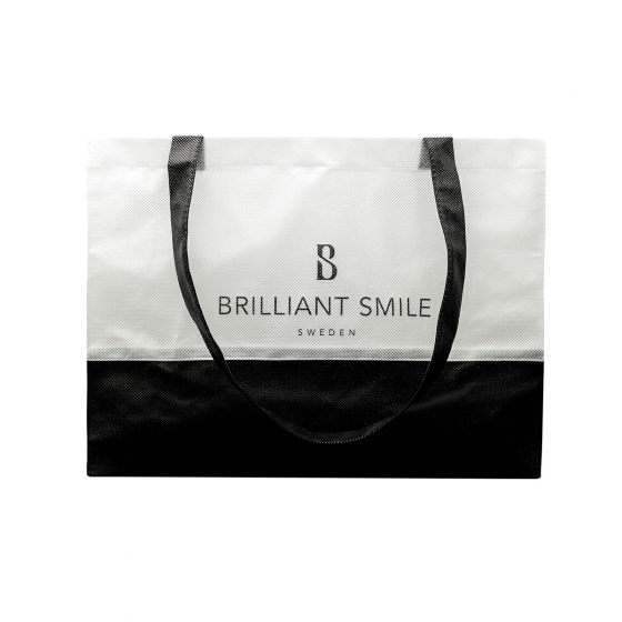 Black/white tote bag in the group Merchandise at Brilliant Smile Sweden AB (534)